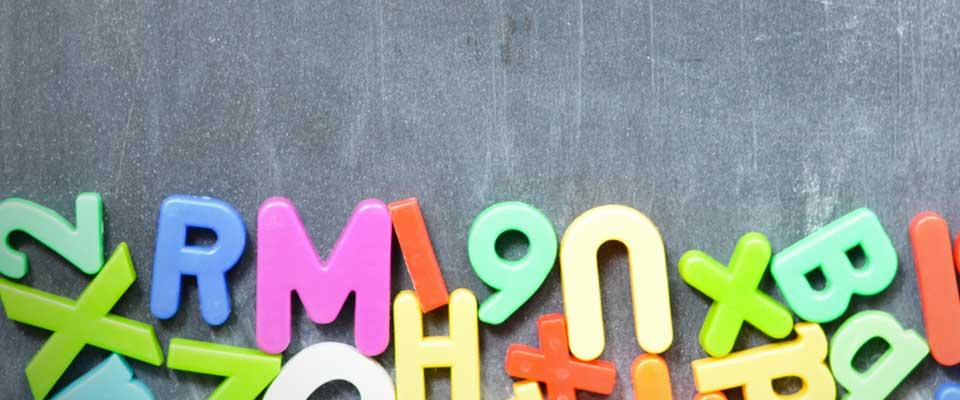 lavagna scuola lettere